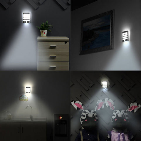Rechargeable Bathroom LED Wireless Wall Lamp Auto On/Off Night Light with Motion Sensor Night for Kid Hallway Pathway Staircase