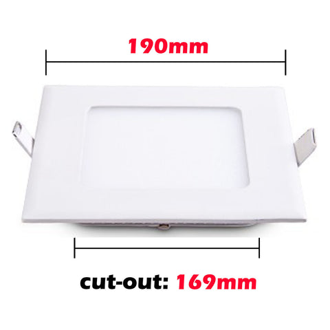 18W Recessed Square Shape LED Panel Light Dimmable Cool White Lamp Downlight AC 85-265V