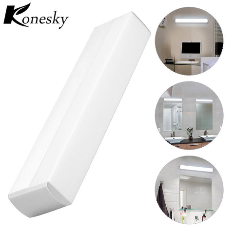 Konesky LED Mirror Wall Lamp AC 85-265V High Brightness Modern Cosmetic Acrylic Light Bathroom Lighting Tool Waterproof Light