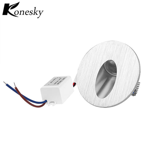 Warm White Led Wall Lamp 3W Round LED Recessed Porch Pathway Step Stair Light Wall Lamp Basement Bulb AC85-265V