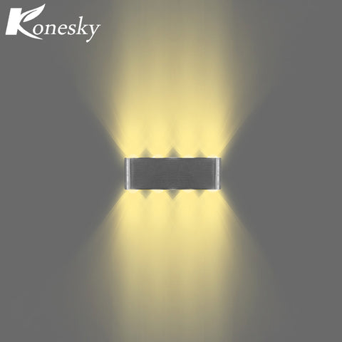 Konesky Modern Led  Up and Down 8W 8-LED Wall Light Aluminum Modern Cuboid Wall Lamp Indoor Outdoor Decoration