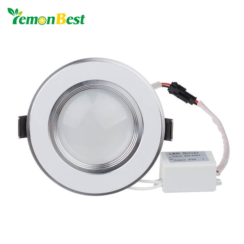 LemonBest Dimmable Ultra thin 3W LED Recessed Spot light