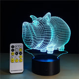 3D Lamp Visual Light Effect Touch Switch with Remote Control