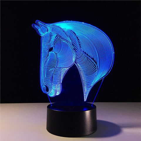 3D Lamp Visual Light Effect with Touch Switch & Remote Control