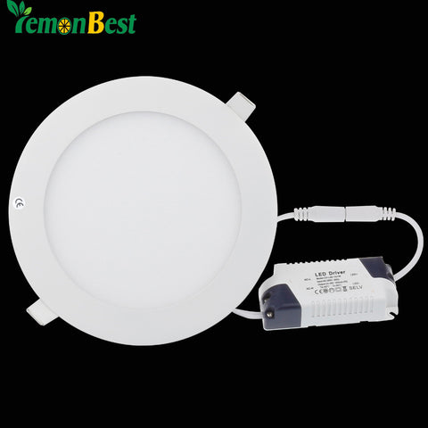 Dimmable Led Panel Light 3W 6W 9W 12W 15W 18W CREE LED Recessed Ceiling Panel Down Light Lamp Cold White/Warm white AC85-265V