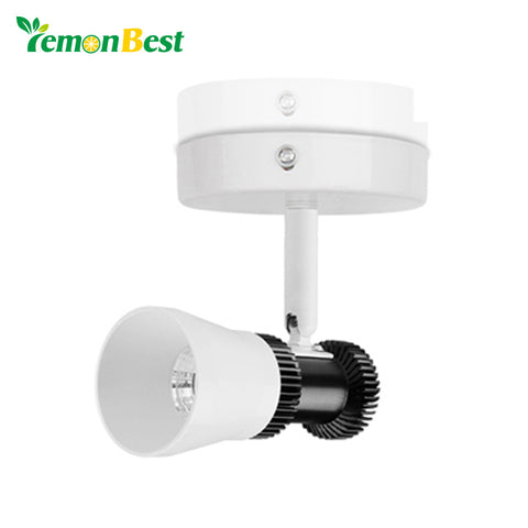 LemonBest 360 Degrees Rotatable 5W COB LED Wall Light Aluminum Wall Lamp for Home Lighting Hotel Indoor Decoration