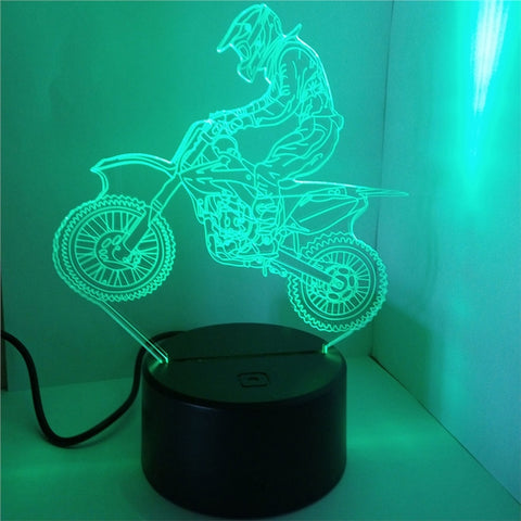 3D Lamp Visual Light Touch Switch Colorful Night Light with Remote Control