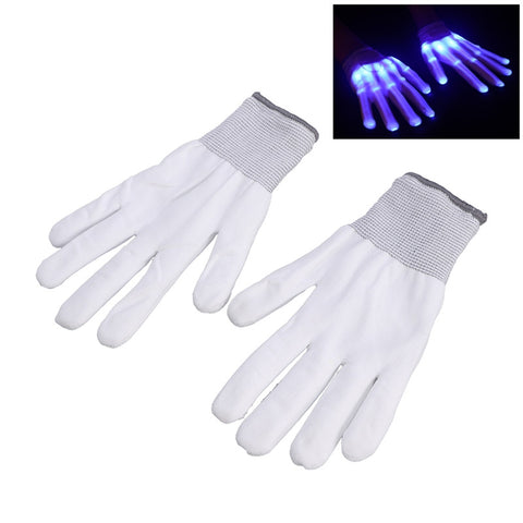 Pair of LED Flashing Fingers Rave Gloves Colorful Gloves for Light Show