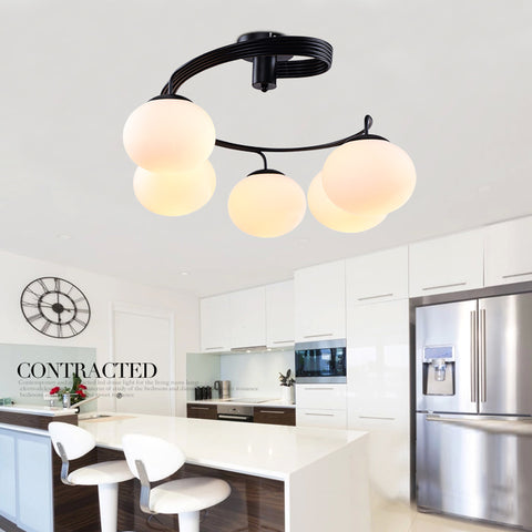 Modern Home Deco Peach Glass Ball Chandelier light