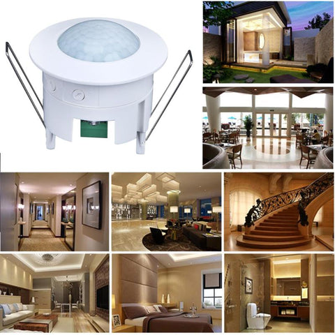 360 Degree PIR Motion Sensor Light Infrared Ray Intelligent LED Night Switch Ceiling Recessed For Indoor Hallway Bathroom Lamps