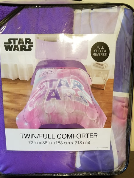 Star Wars sherpa reverse twin/full comforter 72x86