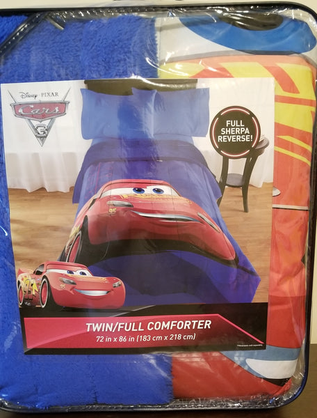 Cars sherpa reverse comforter 72x86