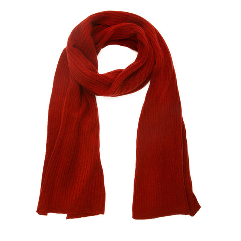 Grete Ribbed Knit Scarf
