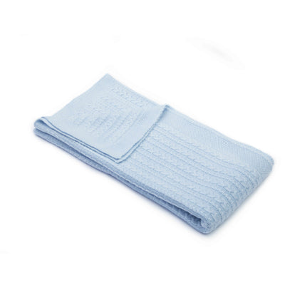 Baby Cable-Knit Swaddle Blanket