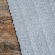 detail of grey throw grete