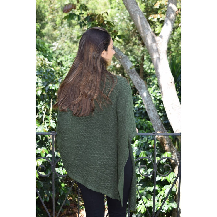 Cable Poncho Wrap