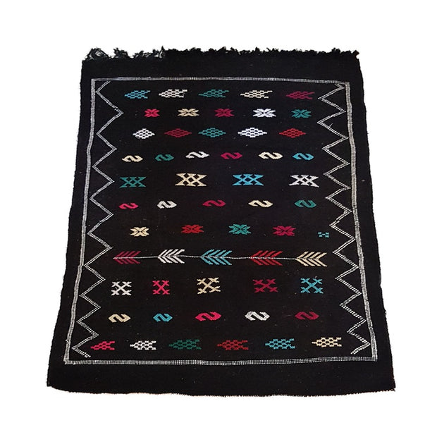 Black Kilim Carpet