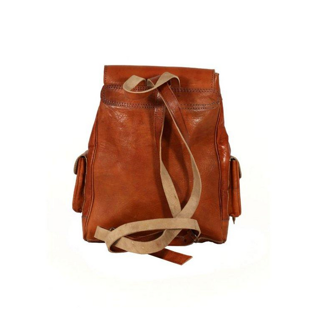 FES Leather  Kilim Backpack