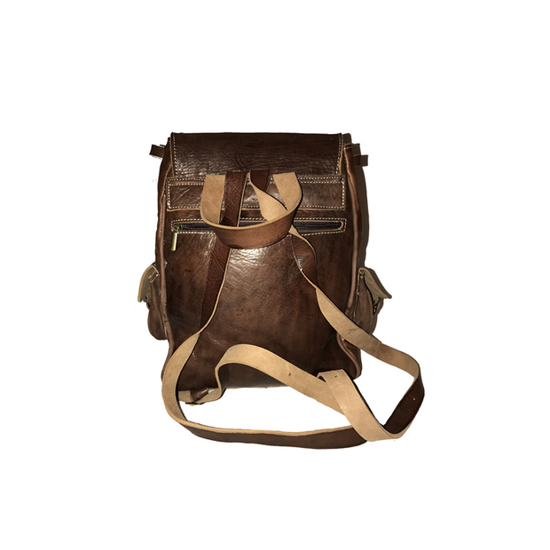 OUARZAZATE Leather Kilim Backpack
