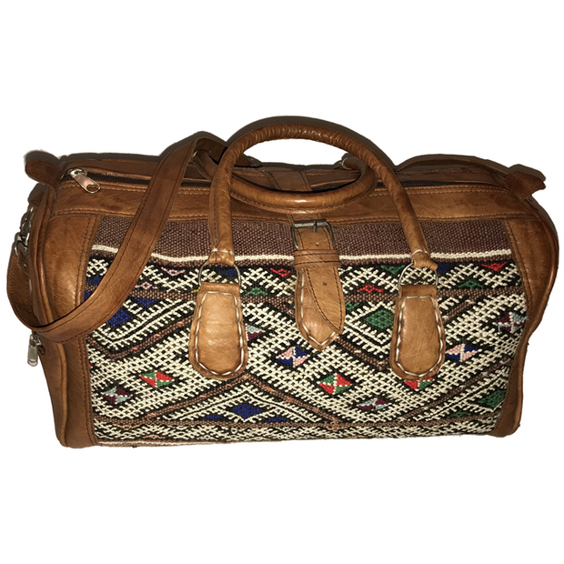 AZILAL Leather Kilim Bag