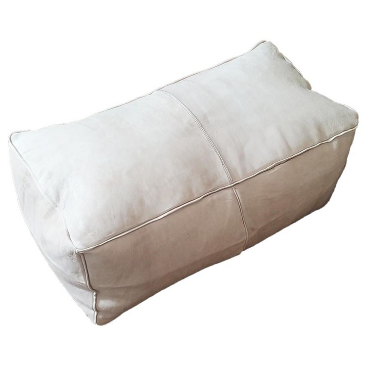 Rectangular Leather Poufs