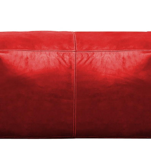 CASIRMO LARGE SQUARE LEATHER POUF