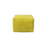 Square Morrocan Leather Poufs