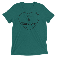 Load image into Gallery viewer, I'm A Survivor T-shirt | Kiss of Beauty Fitness Store