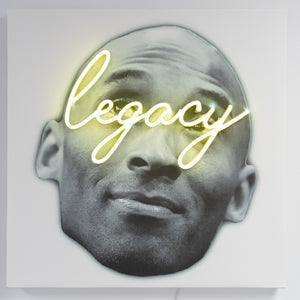 Kobe Bryant Neon Icon Art