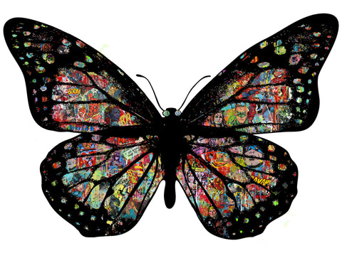 BUTTERFLY POP ART