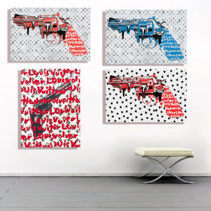 "REVOLVER LOVER "" SUPERHEART "" By WALLCANDY"