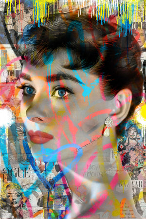 """ FOLLOW YOUR DREAMS "" AUDREY HEPBURN  By WALLCANDY"