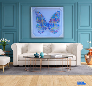 "DIE-CUT BUTTERFLY ""BLUELOVE II "" By WallCandy"