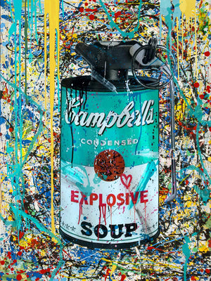 "CAMPBELL'S POP "" GREENSOUP "" By WALLCANDY"