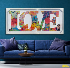 """LOVE LARGE "" SPECIAL EDITION  BY WALLCANDY"
