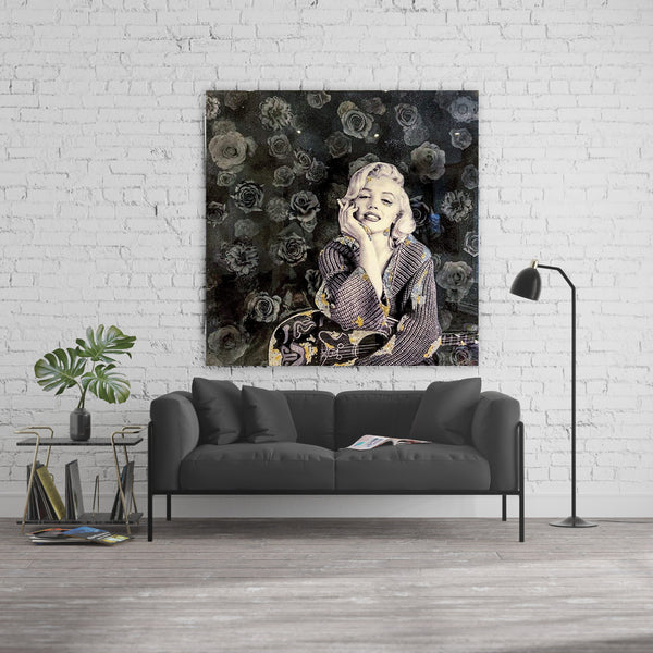 MARILYN MONROSE BLACK ROSES By FANTART