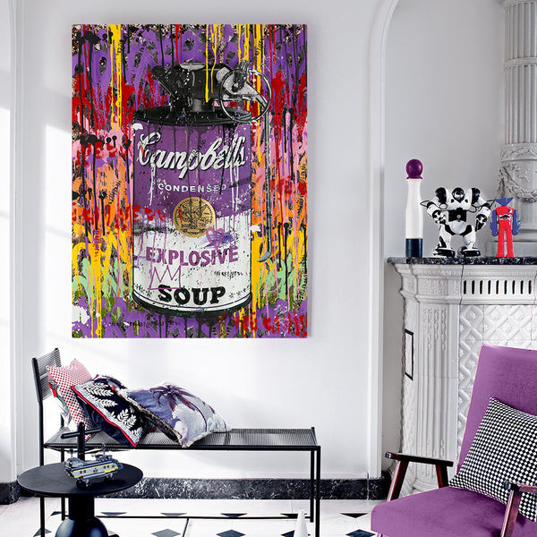 "CAMPBELL'S POP "" PURPLESOUP ""  By WALLCANDY"