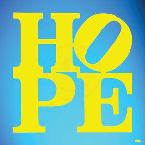 "YELLOW&BLUE ""HOPE"" By WALLCANDY"