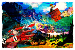 SNOOPY VS RED BARON By Gino Oliveri