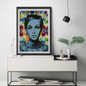 "TWIGGY "" BLUE "" By ELISABETTA FANTONE"