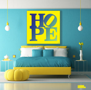 "BLUE&YELLOW ""HOPE"" By WALLCANDY"