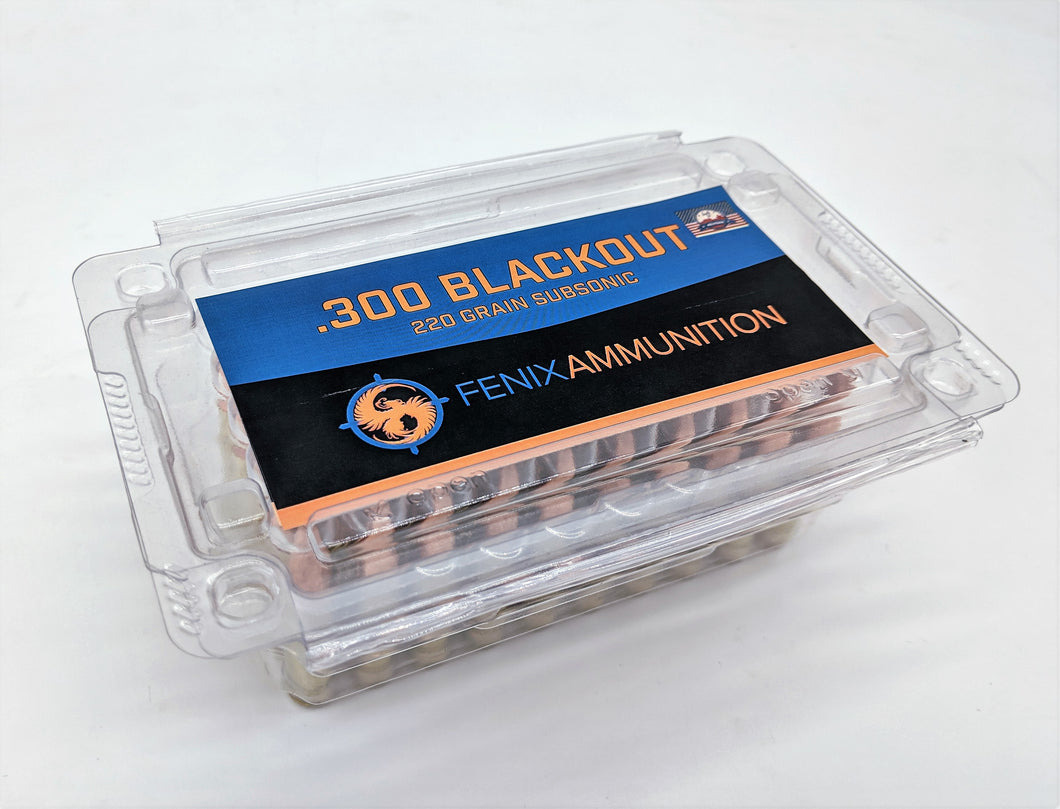 .300 Blackout 220gr Subsonic-Training ammunition-Fenix Ammunition-50 RDS-Fenix Ammunition