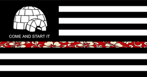 Boogaloo Thin Hawaiian Line Sticker