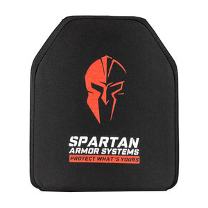 "Spartan Armor Systems Level IV ""Shooters Cut"" Ceramic Body Armor Front View"