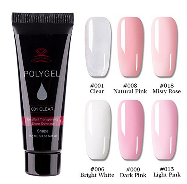 Professional PolyGel Nail Enhancement Kit (11 Pieces)