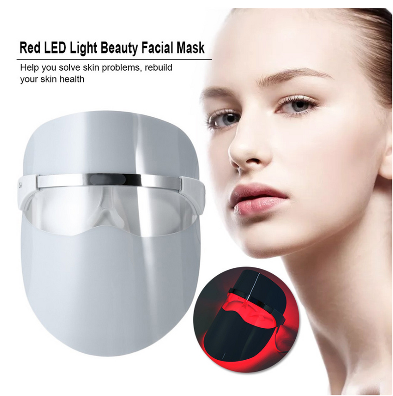 Red LED Light Beauty Facial Mask