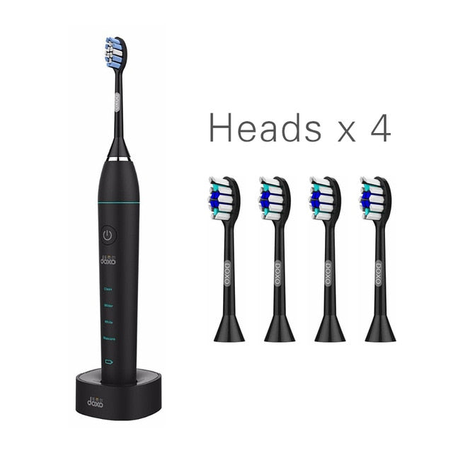Smart Sonic Electric Toothbrush DuPont Brush Ultrasonic Whitening Teeth Vibrator Wireless timer Hygiene 35000 times/m youcosy