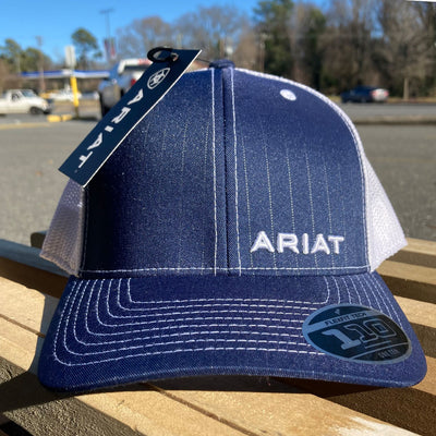 Blue Ariat Snapback Cap