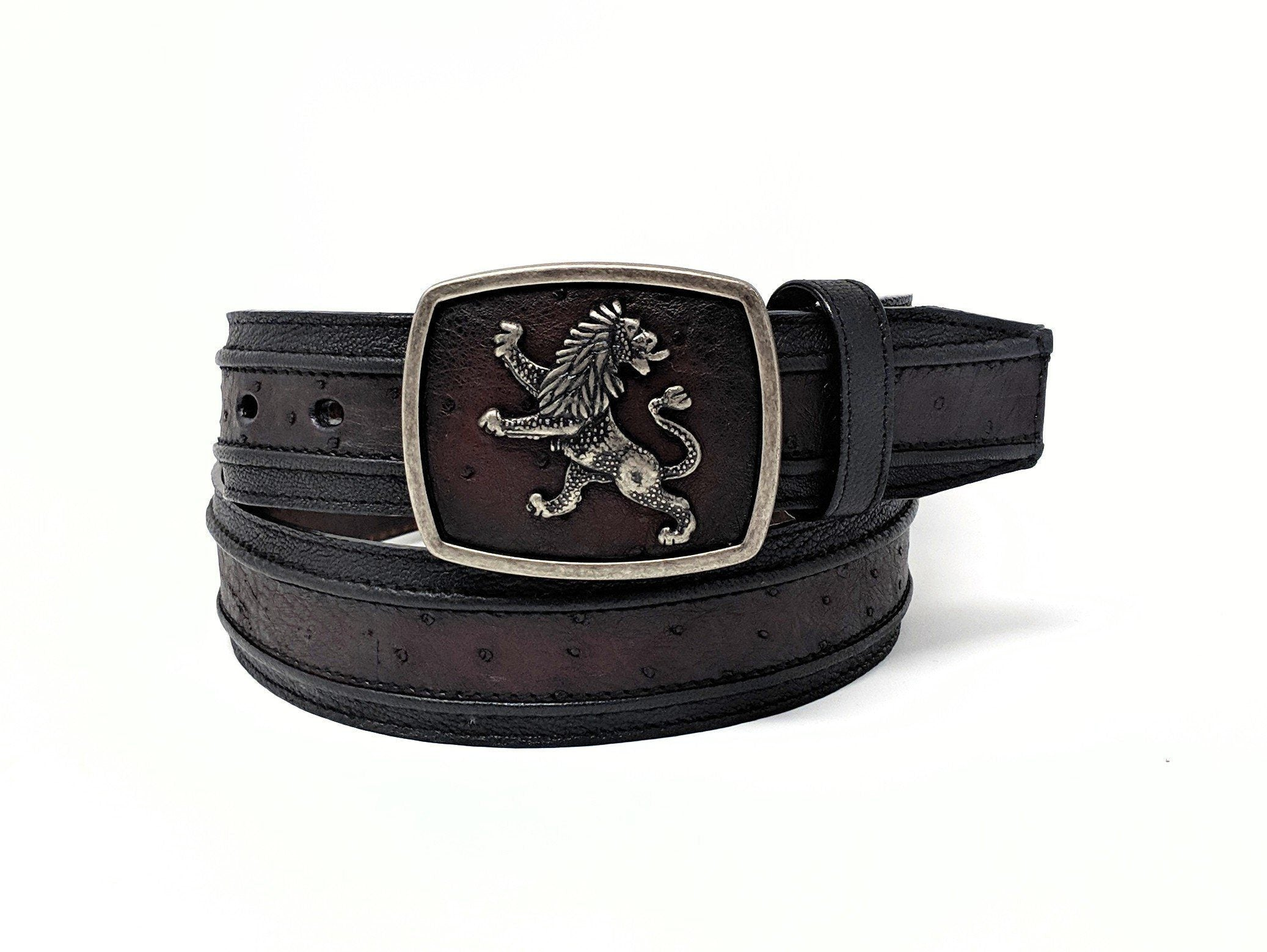 4975a74ef59 Cuadra Belt | Handmade Ostrich Belly Belt