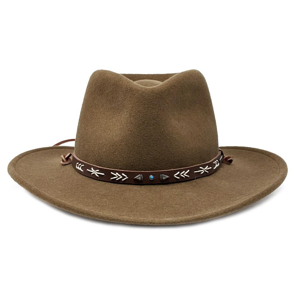 stetson crushable brown hat santa fe